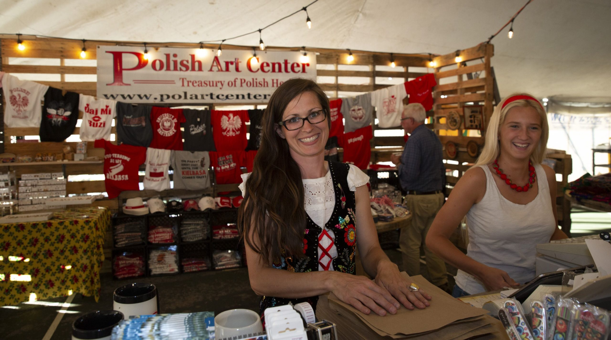 Polish Ast Center Booth at Cedar Polka Fest